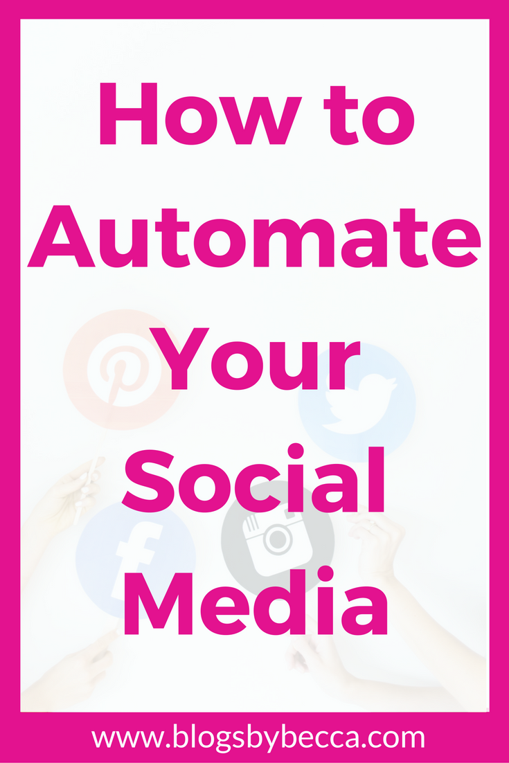 How to Automate Your Social Media to Save Time On Your Blog and Be More Productive! AMAZING TIPS! I LOVE these tools! Twitter, Facebook, and Pinterest are so easy once you get these tips, ideas, and tricks.