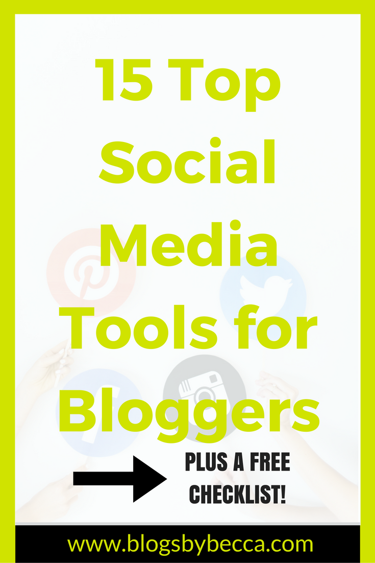 15 Top Social Media Tools for Bloggers. AMAZING social media tips and tricks for beginners or advanced bloggers! I need all of these tools! Click through to check it out!