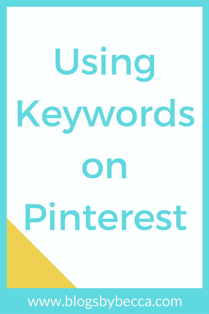 Pinterest for Business Tips: Using Keywords on Pinterest. Love these social media tips and tricks for beginner bloggers!