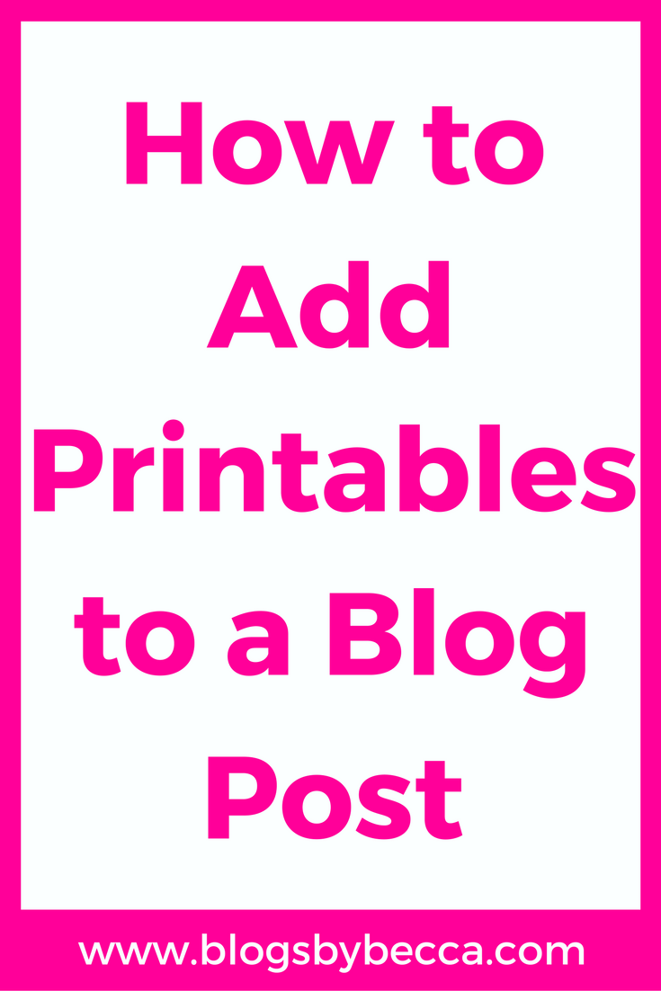 How to Add Printables to a Blog Post. Awesome tips and tricks for beginners! Add content upgrades to your blog posts to get more email subscribers! Brilliant!
